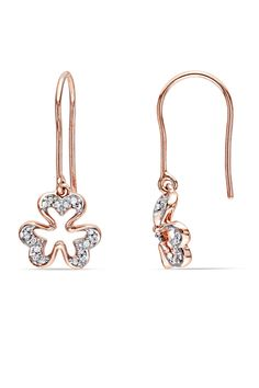 0.1CT Diamond Charm Earrings