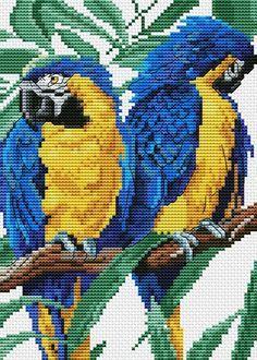 ru / Photo # 3 - K 5196 - elypetrova Cross Stitch Bird, Cross Stitch Animals, Cross Stitch Charts, Cross Stitch Designs, Cross Stitching, Cross Stitch Embroidery, Cross Stitch Patterns, Beaded Cross, Bird Patterns