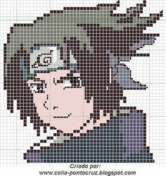 Ponto cruz: Naruto Gráficos Ponto cruz