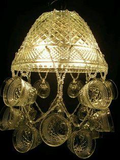 Punch bowl lamp