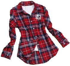 tinytulip.com - Monogrammed Ladies Plaid Flannel Shirt, $42.50 (http://www.tinytulip.com/monogrammed-ladies-plaid-flannel-shirt)