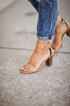 Simple nude, sandal