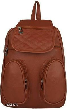 Bags & Backpacks Elegance PU Unisex Backpack Material: PU Size: Free Size Number Of Compartments: 5 Description : It Has 1 Piece Of Unisex Backpack Pattern: Solid Country of Origin: India Sizes Available: Free Size   Catalog Rating: ★4.1 (445)  Catalog Name: Myhra Elegance PU Unisex Backpacks CatalogID_191414 C65-SC1234 Code: 803-1474373-855