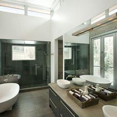 modern bathroom by Kaegebein Fine Homebuilding
