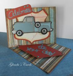 INSPIRATION for Cricut Nate's ABCs tow truck. This project used Cricut Nifty Fifties to make the truck.