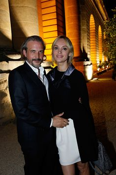 Photographer Bruno Aveillan and his wife Model Inna Zobova attend the Grand Opening Anish Kapoor's Exhibition at Chateau de Versailles on June 7 2015...