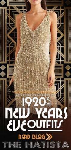 052de7fb7f7 Great Gatsby New Years Eve Party Outfits. Roaring 20 s Fashion. Beaded  Flapper Dresses.