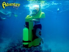There is a new way to explore the BVI!    Why not try an underwater scooter or Robodolphin adventure with The Adventure Bay.     Visit their page on Facebook or website for more information www.theadventurebay.com/  Like a space ship