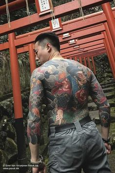 Inked Guys, Inked Men, Japanese Tattoo Art, Japanese Sleeve Tattoos, Traditional Japanese Tattoos, Yakuza Tattoo, Back Tattoos, Irezumi, Body Modifications