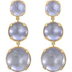 Larkspur & Hawk White Topaz Haley 3-Drop Earrings ($1,500) ❤ liked on Polyvore
