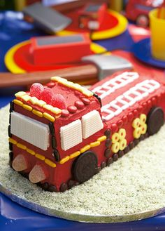 """Wee-oooo"" Fire engine cake for a 2nd birthday!"