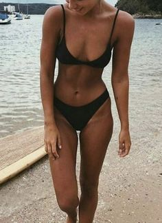 ♡ On Pinterest @ kitkatlovekesha ♡ ♡ Pin: Fashion ~ Swimwear ~ Black Bikini Set ♡
