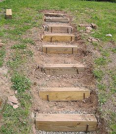 How To Make Hillside Railroad Tie Landscape Stairs