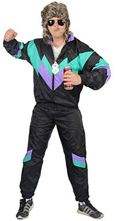 Shell Suit Costume for Men 80s Party Outfits, 80s Outfit, Themed Outfits, Dance Outfits, 80s Workout Costume, 1980s Costume, Uggs, Shell Suit, Mens Fitness
