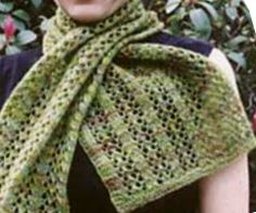 Easy lace scarf! Hard to think I will need a scarf in this heat, but we all know it eventually gets cold again!