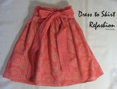 repurposing a girl's dress to a girl's skirt