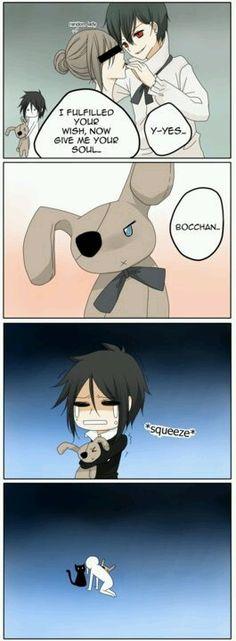 Hahaha poor Sebastian..