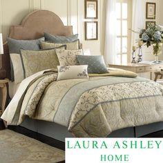 Laura Ashley Berkley 4-piece Comforter Set with Euro Sham Separate Option | Overstock.com Shopping - Great Deals on Laura Ashley Comforter Sets
