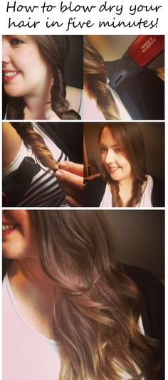 Carina100 - Fashion, Style and Beauty Blog: How to blow dry your hair in five minutes!