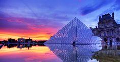 Paris - Louvre Sunset  By Edgar Moskopp