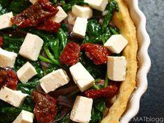 » Spinatpai med soltørket tomat og feta  Bytt ut mel og melk for gluten- og laktosefritt