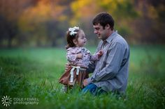 Father and daughter. Family portraits. Cole Fennel Photography