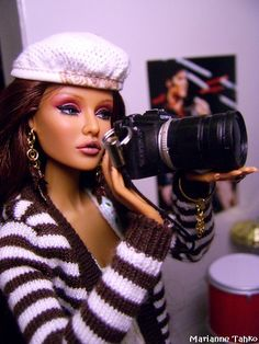 Fashion Royalty Doll with camera - I want one of those!