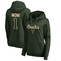 885ff9396 Milwaukee Bucks Fanatics Branded Women's Plus Sizes Number 1 Mom Pullover  Hoodie - Green Colorado Avalanche