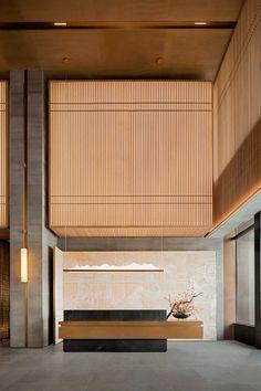 Japanese Interior, Office Interior Design, Modern Interior Design, Office Designs, Interior Garden, Hotel Interiors, Office Interiors, Lobby Interior, Interior Architecture