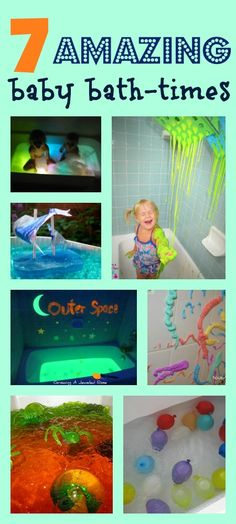 Bubble bath is soooo last year, don;t you think? ;D Super fun ideas for bath-times here - one for every night this week!
