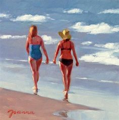 DPW Fine Art Friendly Auctions - Sunset Stroll by Joanna Bingham
