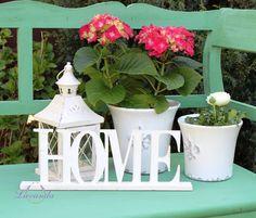 Drevená dekorácia HOME, veľká Planter Pots, Sweet Home, Shabby, Retro, Garden, Vintage, Lavender, Garten, House Beautiful
