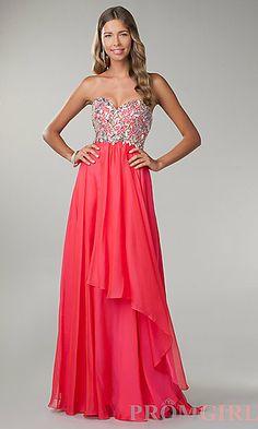 Floor Length Strapless Sweetheart Dress
