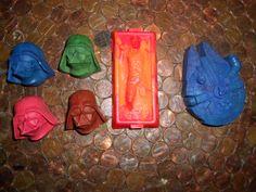Star Wars Crayon Set by OnceUponACrayon on Etsy, $6.00