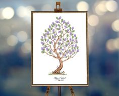 Instant Download Fingerprint Tree Elisa with bunny decoration birthday party bridal shower thumbprint painting event memory guest book Wedding Fingerprint Tree, Baby Shower Fingerprint, Fingerprint Art, Birthday Party Decorations, Birthday Parties, Presentation Pictures, Gift Drawing, Best Memories, Ink Color