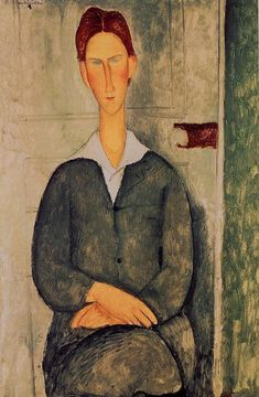 """""""Red-haired young man, 1919, Amedeo Modigliani Medium: oil on canvas"""""""
