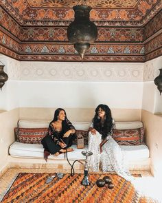 "My dad was elated when I brought Nneka home a couple weeks ago. You would think I had ""found a husband"" because of his desire to make a… Morocco Hotel, Find A Husband, Floor Seating, Moroccan Design, Cozy Nook, Couple Weeks, Mediterranean Style, Ceiling Design, Home Decor Furniture"