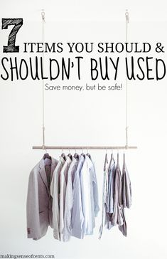 7 Items You Should And Shouldn't Buy Used. Sometimes buying used items can be a great deal, other times not so much. Check this out to see this crazy list!