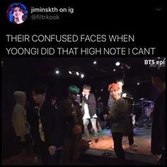 aesthetic gif those vocals👀🤩 Bts Funny Videos, Bts Memes Hilarious, Min Yoongi Bts, Bts Bangtan Boy, Bts Dancing, Bts Playlist, K Pop, Bts Tweet, Album Bts