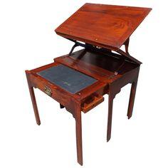 1stdibs.com | English Mahogany Tiered Architects Desk Architect Table Writing Table English