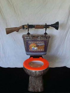 Built in plunger for frequently blocked toilet !! Wonder if the gun works too ? Maybe Oscar Pestorious was only on his way to 'plunge ' and 4 got the 'plunger ' was loaded ?
