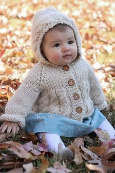 hooded baby sweater pattern - Google Search