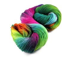 "MCN rainbow yarn high twist - hand dyed - merino cashmere nylon - ""Geeks Like Rainbows Too"" - UK Seller - Count Cashmerino High Twist"