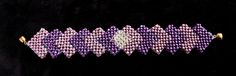 Light Purple Dark Purple Seed Beads Bracelet Jewelry, Elegant Women's Beadwoven Jewelry, Special Occasion Jewelry, Unique Gift by TryBeads