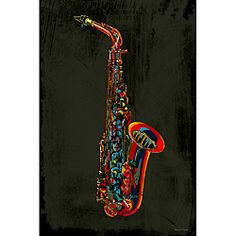 @Overstock.com - Artist: Maxwell Dickson  Title: Saxophone  Product type: Gallery-wrapped giclee canvas arthttp://www.overstock.com/Home-Garden/Maxwell-Dickson-Saxophone-Giclee-Canvas-Wall-Art/6315879/product.html?CID=214117 $160.99