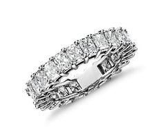 Radiant-Cut Diamond Eternity Ring in Platinum (4.00 ct. tw.) #bluenile