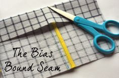Tutorial: Bias bound seams by Abby from Things for Boys