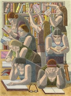 View Researchers by William Roberts on artnet. Browse upcoming and past auction lots by William Roberts. People Reading, Book People, I Love Books, Good Books, Books To Read, Reading Art, Woman Reading, Illustrations, Illustration Art