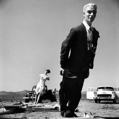"""Caption from the May 16, 1955, issue of LIFE. """"Scorched, male mannequin in suit of dark fabric indicates a human would be burned but alive."""""""