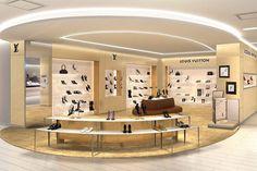 38f804b212d1e4 Louis Vuitton ouvre un salon de chaussure sur la avenue. Ageco Agencement